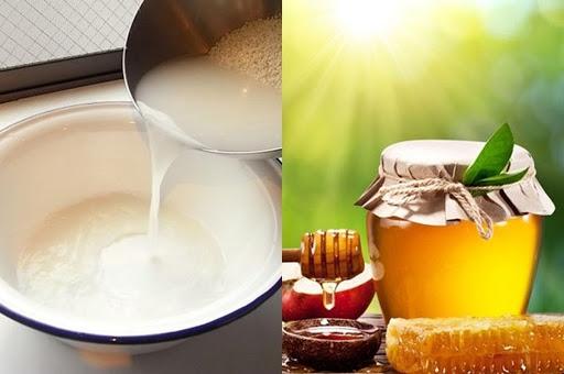 Cách làm đẹp da mặt bằng nước vo gạo và mật ong