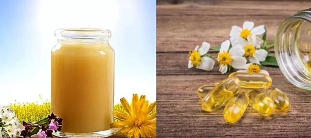 dưỡng trắng da bằng sữa ong chúa và vitamin E