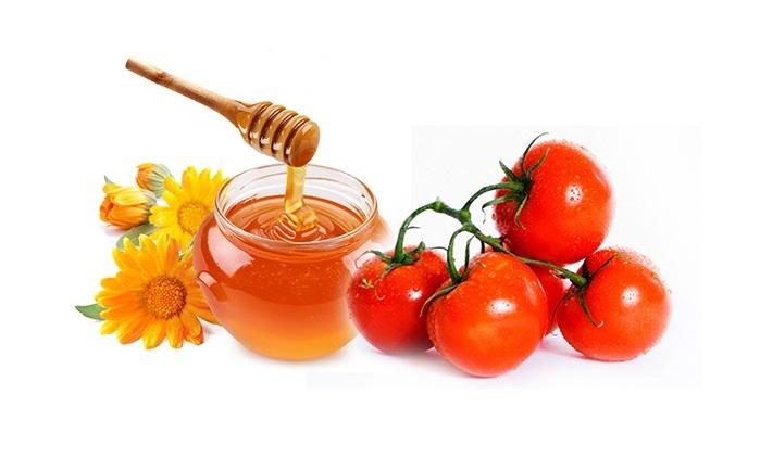 chống nắng với mật ong với cà chua