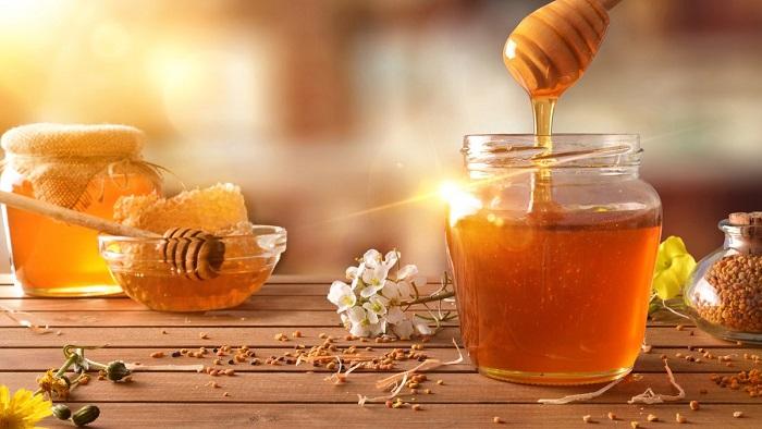 chống nắng với mật ong